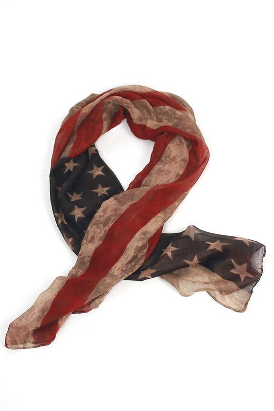 Rustic American Flag Scarf