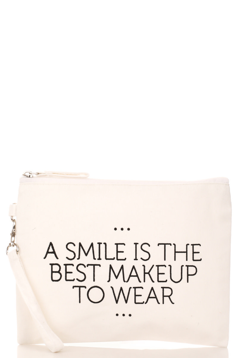 A Smile Is The Best Makeup To Wear-Cosmetic Bag