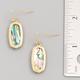 Oval Crystal Drop Earrings