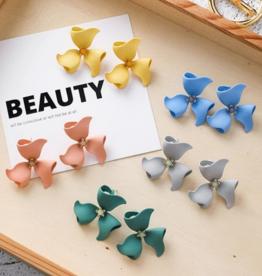 KOKO & LOLA Sterling Silver Post - Flower Earrings