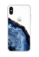 Casery Dark Blue Agate iPhone
