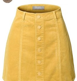 2Sable Corduroy Button Down Skirt