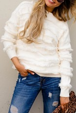 Fringe Detail Pullover Sweater