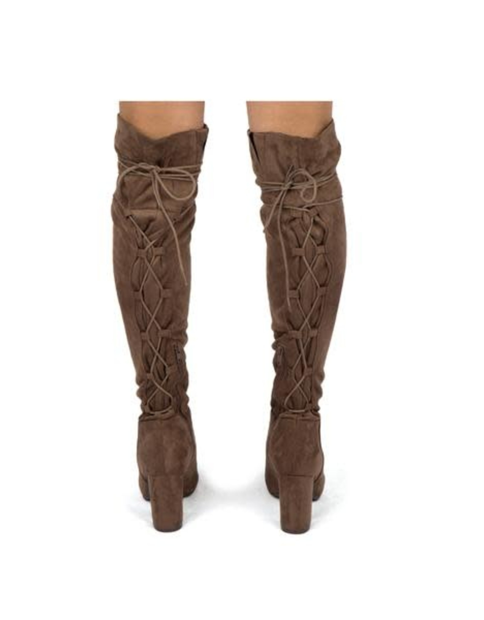 Qupid SENTNEY- Knee High Lace up  Boot