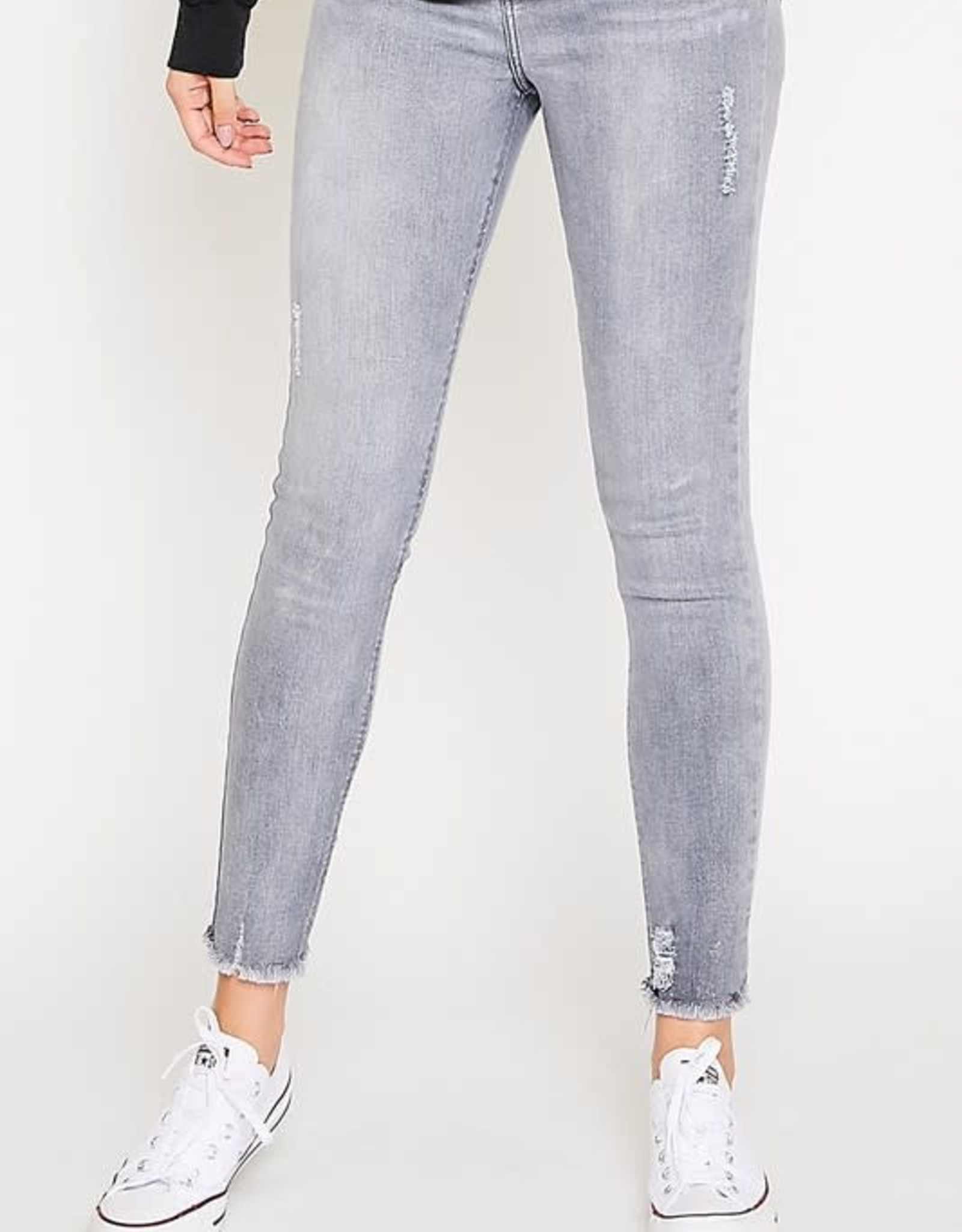 Peach Love California Frayed Hem Skinny Jean