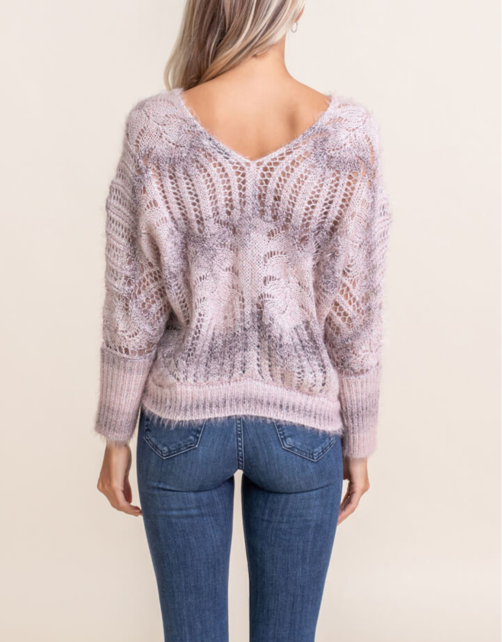 Lush Clothing Open Knit Sweater