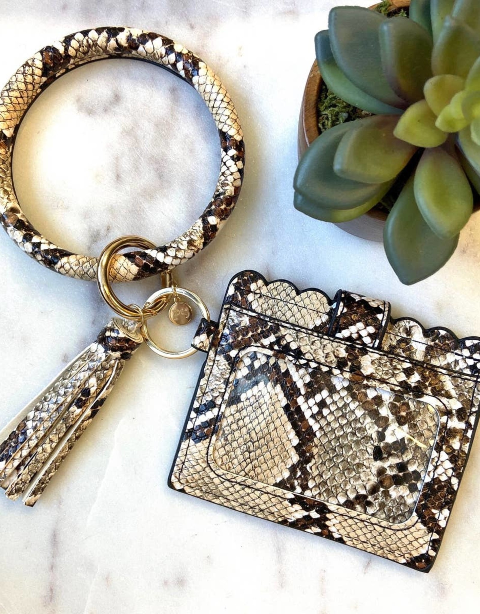 Pretty Simple CARDHOLDER WITH KEYRING BANGLE & TASSEL