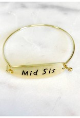 Pretty Simple Sis and Mom Hinged Bangles - Gold