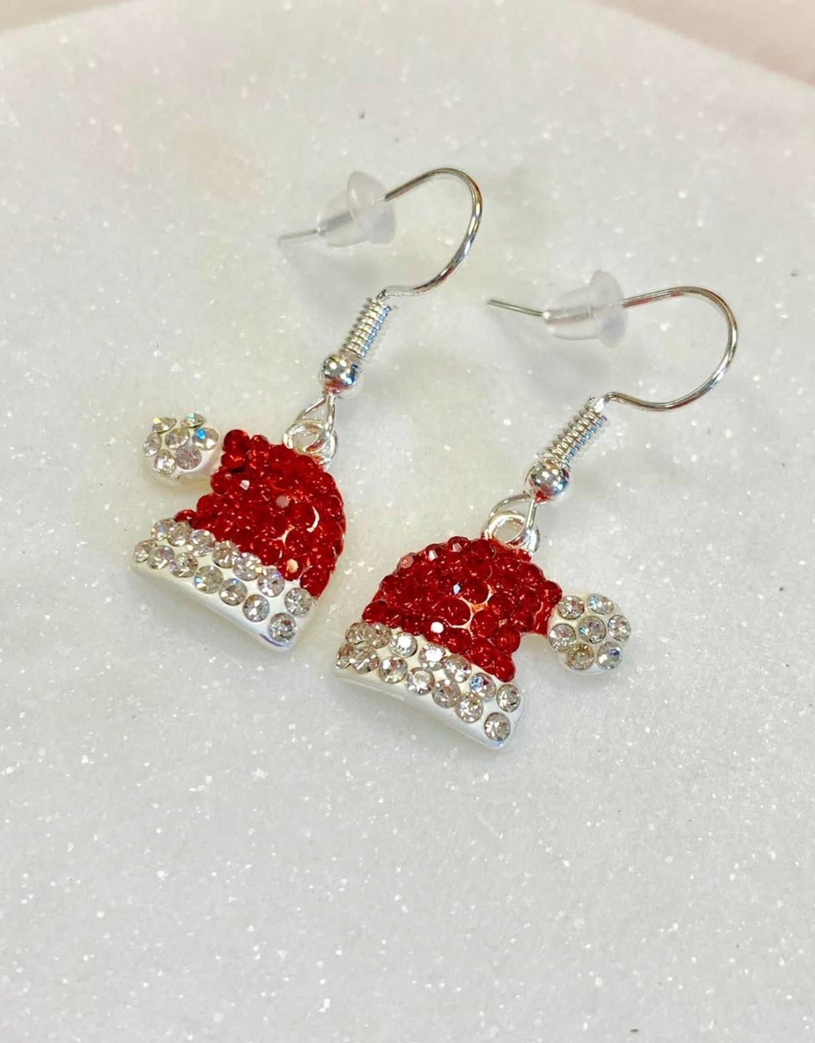 Pretty Simple Santa Hat Earrings