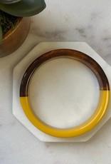 Pretty Simple Mustard Tortoise Shell Bangle - thin