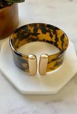 Pretty Simple Tortoise Gold Cuff