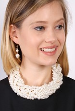 PEARL BUBBLE NECKLACE AND EARRING SET
