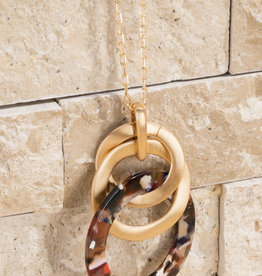 Metal Chain with Acetate Necklace