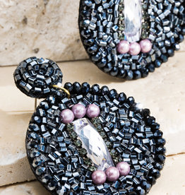 Mixed Bead Statement Earrings