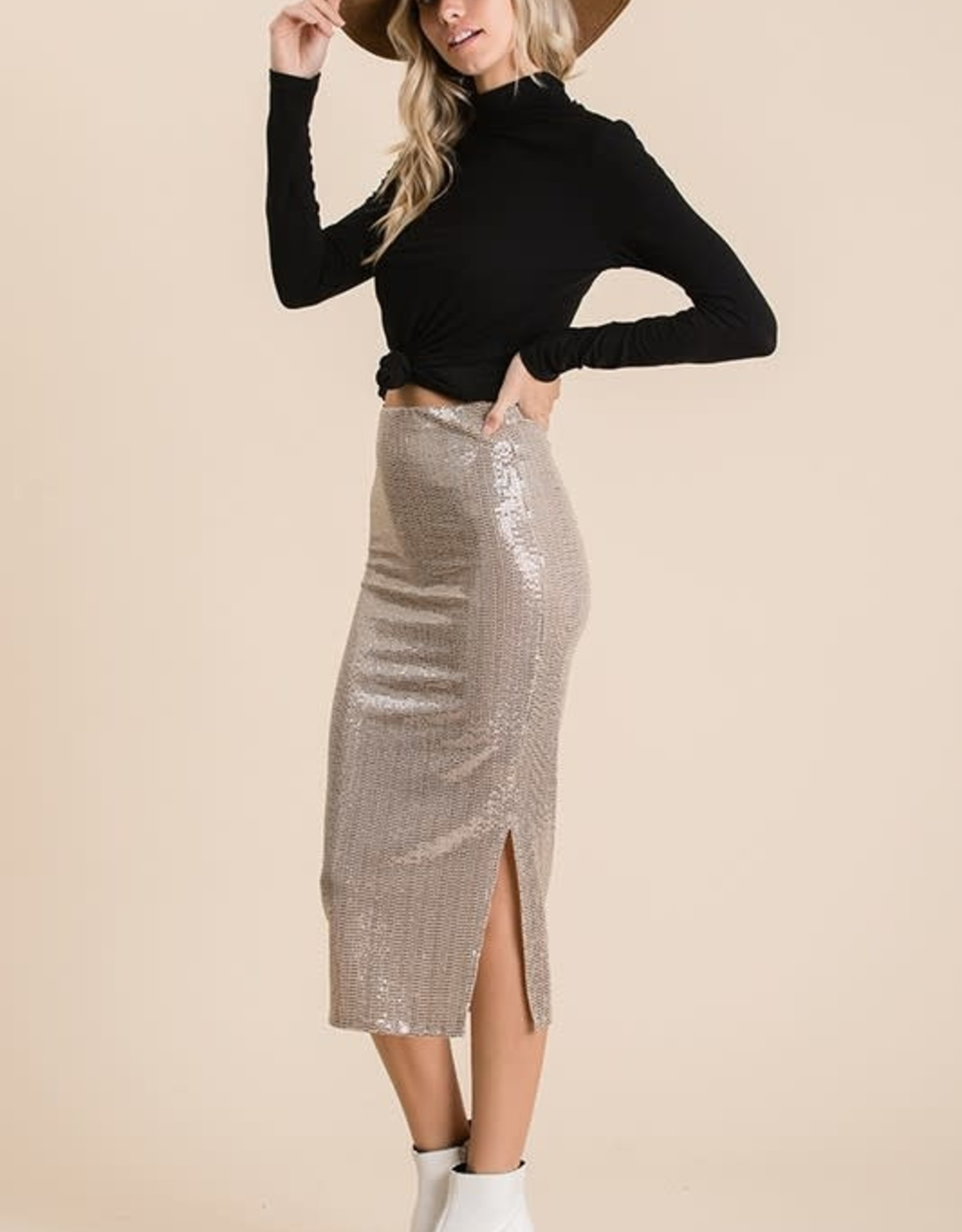 Trance sequins pencil skirts