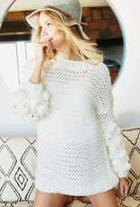 BiBi HANDMADE KNITTED SWEATER TOP WITH POM POM
