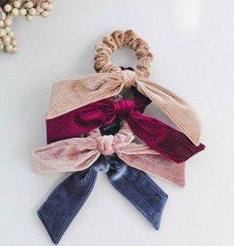 Ribbed Velvet Bow Scrunchie