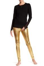 Gold Metallic Mesh legging