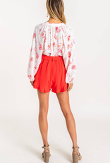Lush Clothing Ruffle High Waisted Shorts