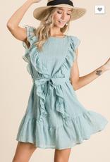 BiBi Ruffled woven dress