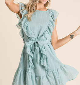 BiBi Ruffled woven dress