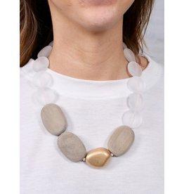 Carter mixed bead necklace natural