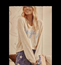 Promesa Friyay Embroidered Graphic Sweater