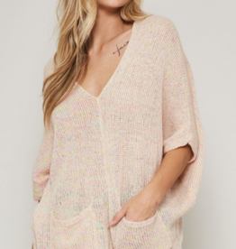 Promesa Rosy semi-sheer knit sweater