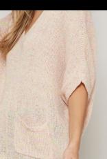 Promesa Rosy semi-sheer knit sweater