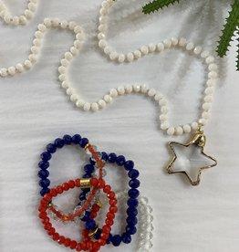 Red,White & Blue Stretch Bracelet