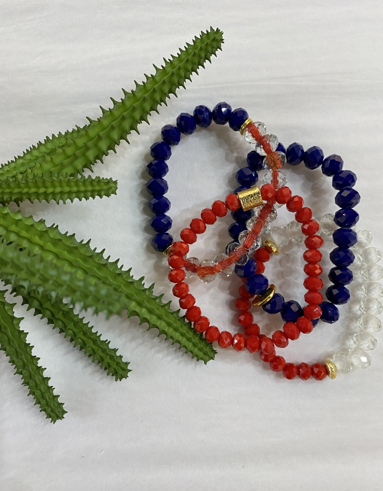Red,White & Blue Stretch Bracelet