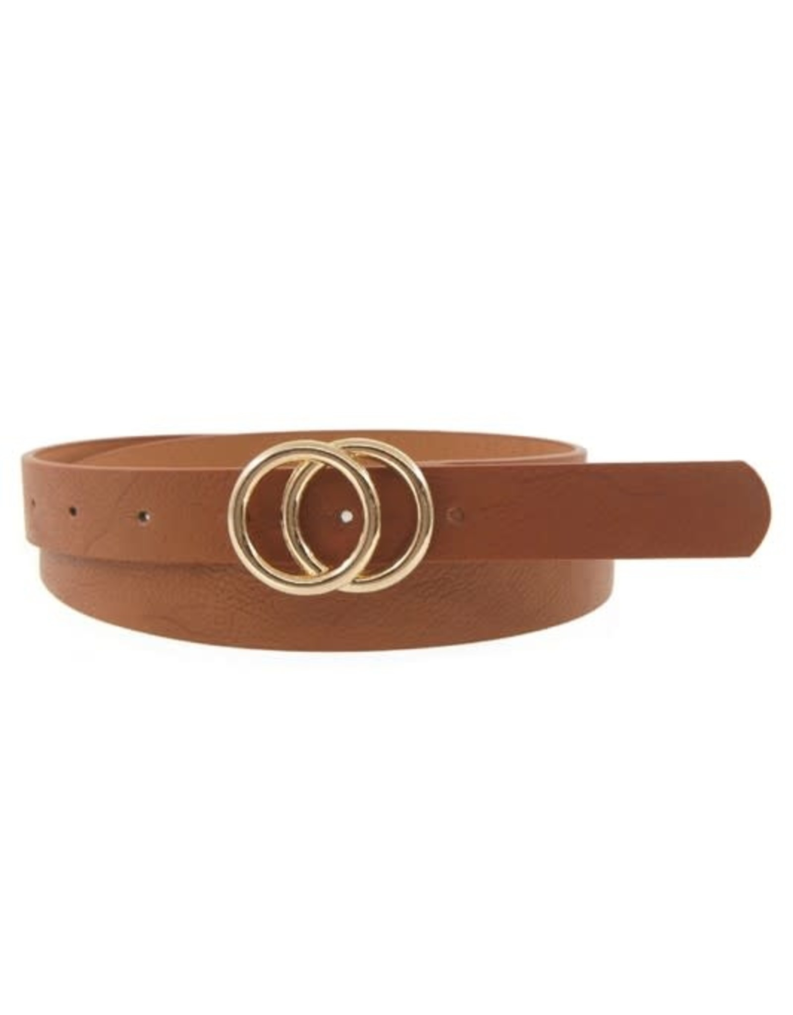 Coveted Clothing Double Ring Belt-Tan