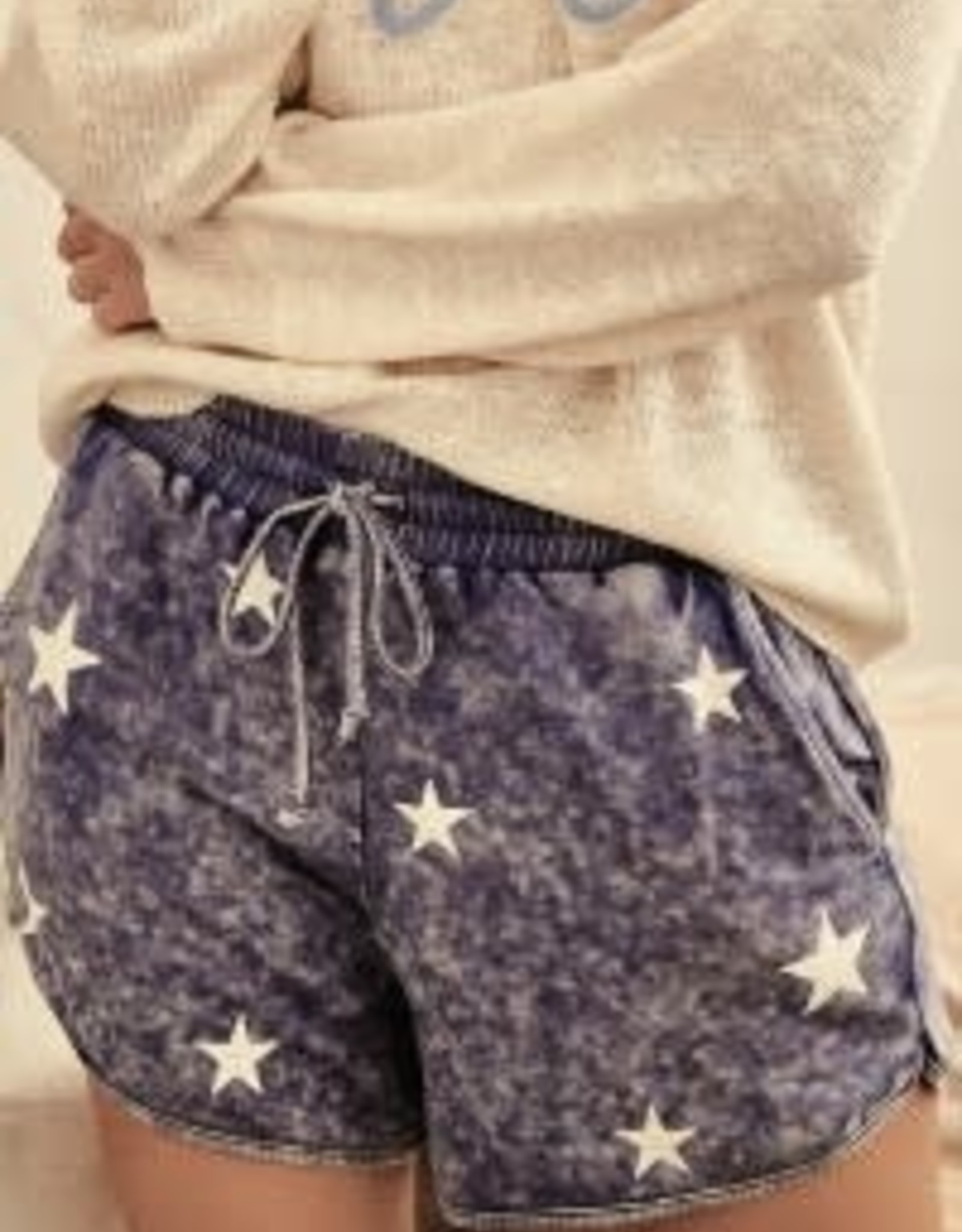 Promesa CATCH A FALLING STAR POCKETED KNIT SHORTS