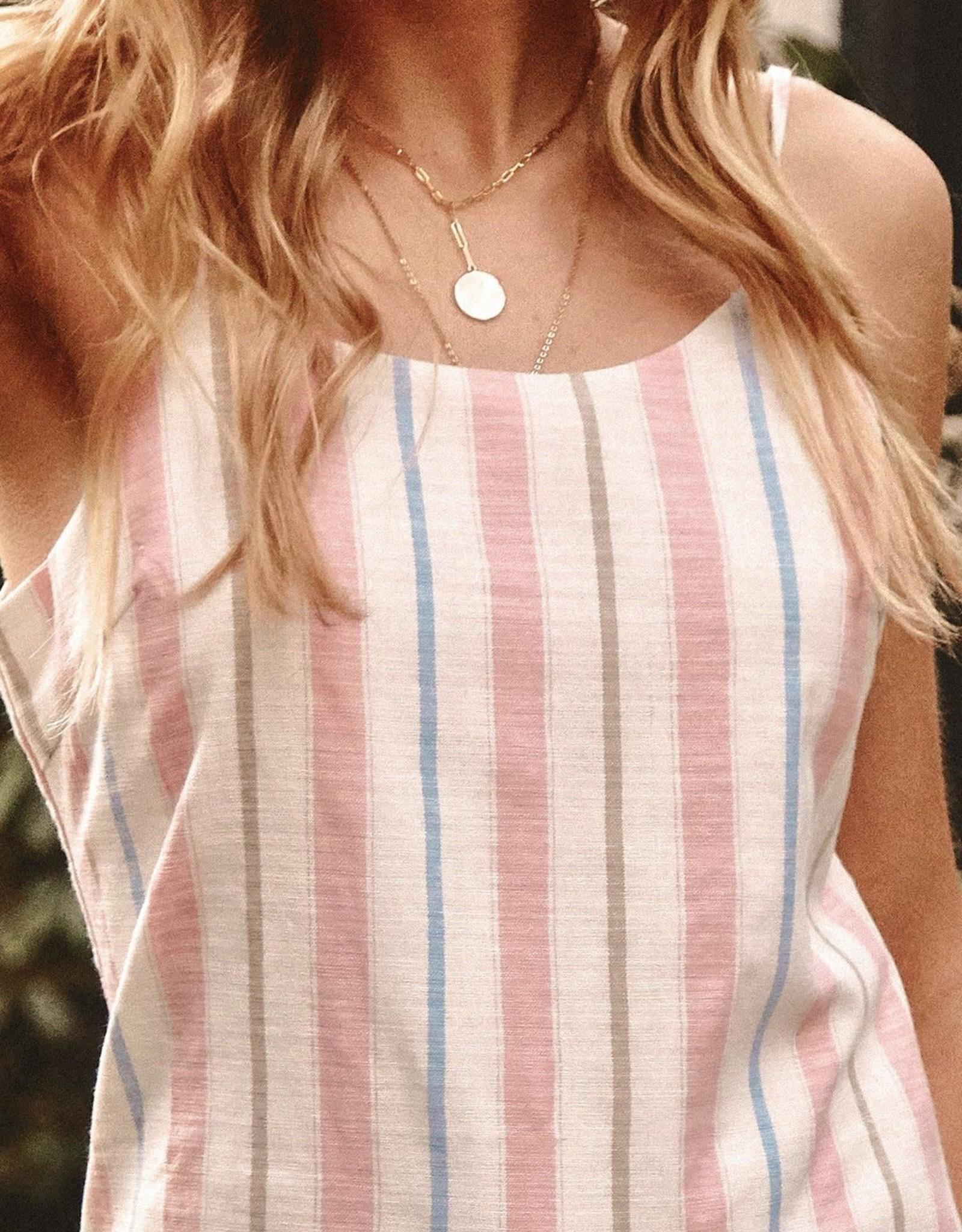 Promesa Sweetest Thing Striped Mini Slip Dress