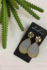 Gold trim Teardrop earrings
