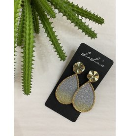 Gold trim Teardrop earrings