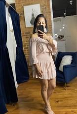 Promesa Floral Glam Off the Shoulder Smocked Mini Dress