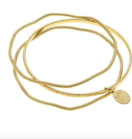 Susan Shaw Design  gold bangle set