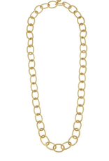 Susan Shaw 30' Long Loop Gold Chain Necklace