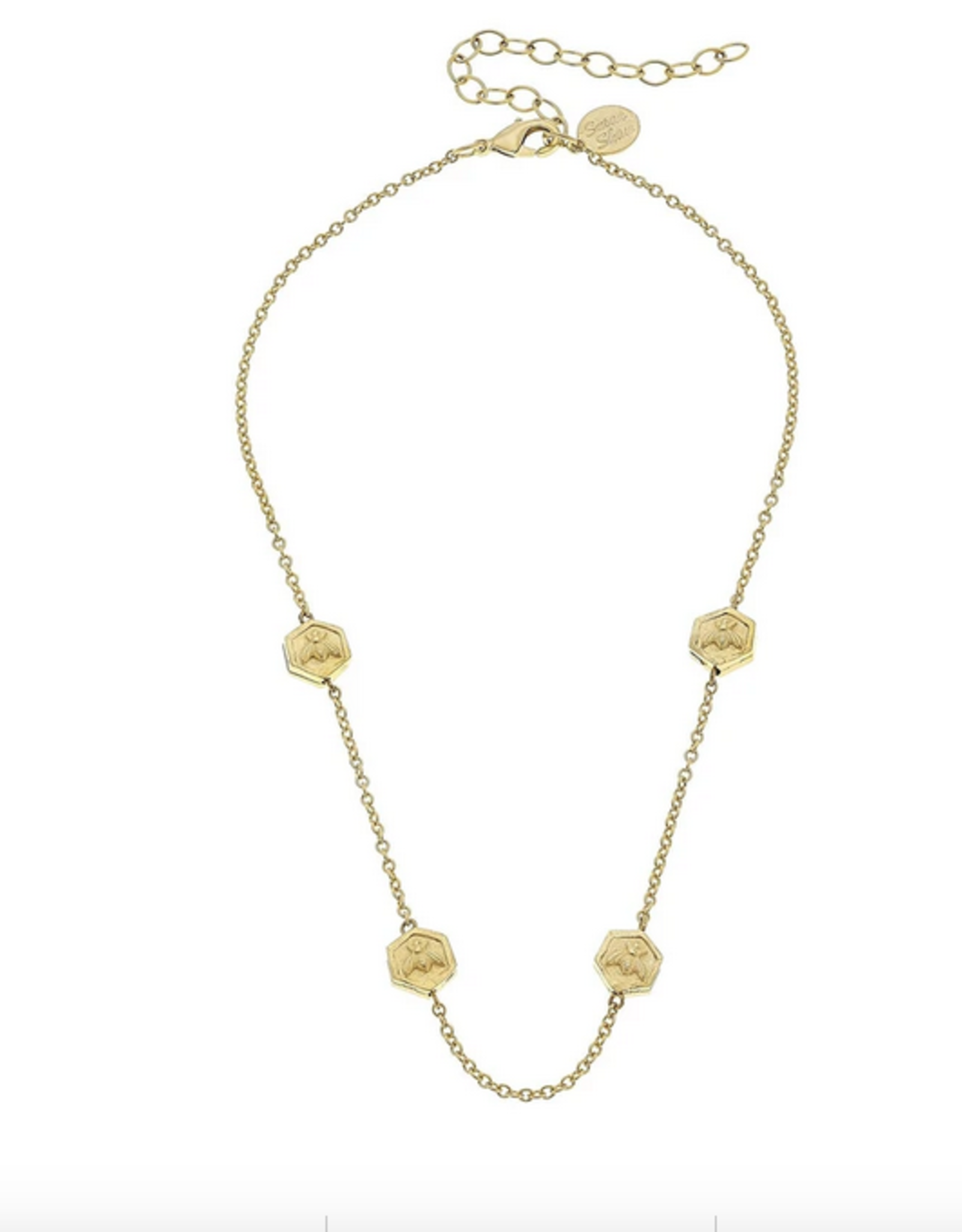 Susan Shaw Gold Bee Beads and Chain Choker