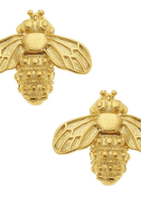 Susan Shaw Gold Bee Stud Earrings