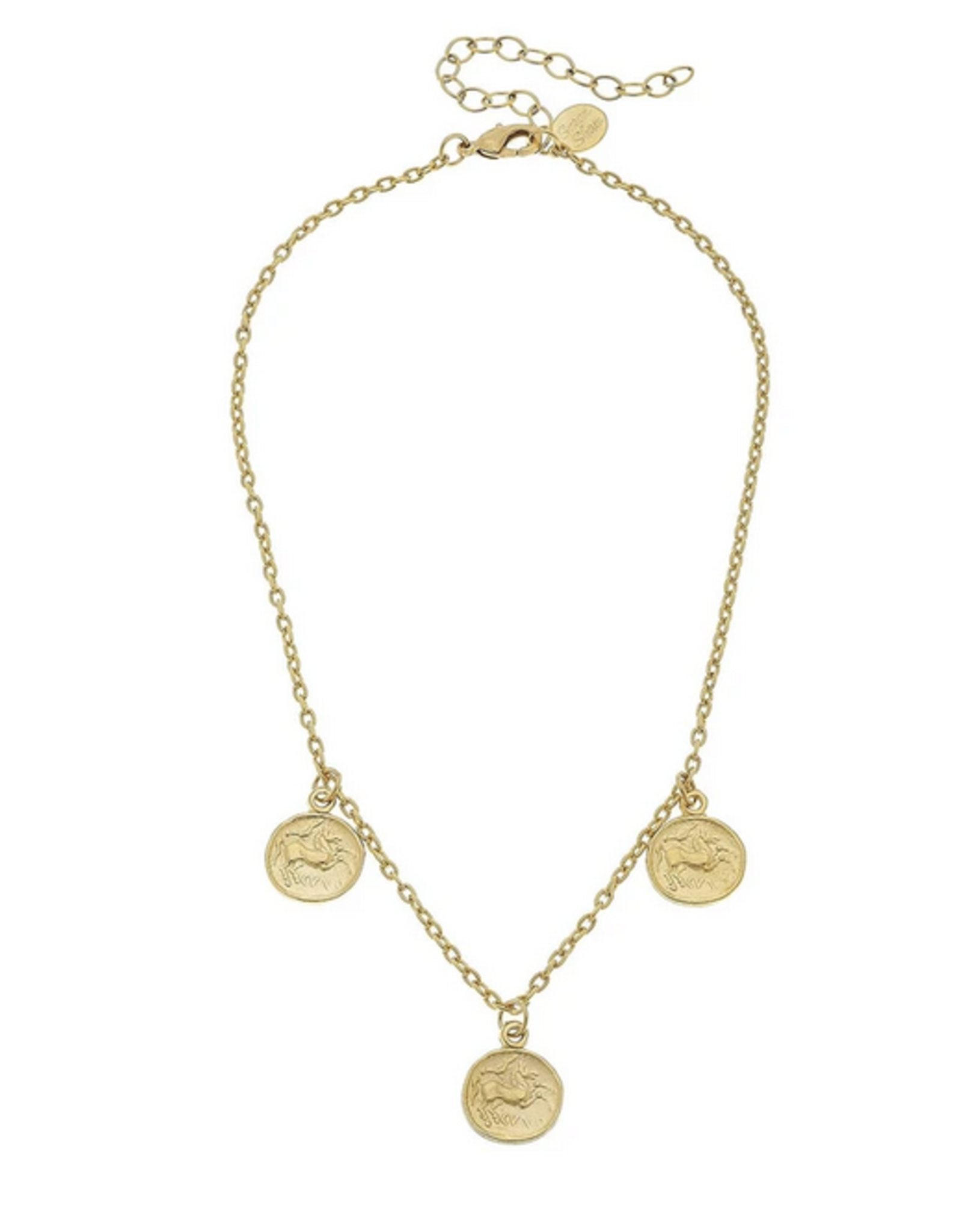 Susan Shaw Gold Coins on Chain Necklace