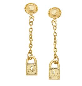 Susan Shaw Tiny Lock Dangle Earrings