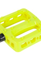 """Odyssey Odyssey Twisted PC Pedals - Platform, Composite/Plastic, 1/2"""", Flourescent Yellow"""