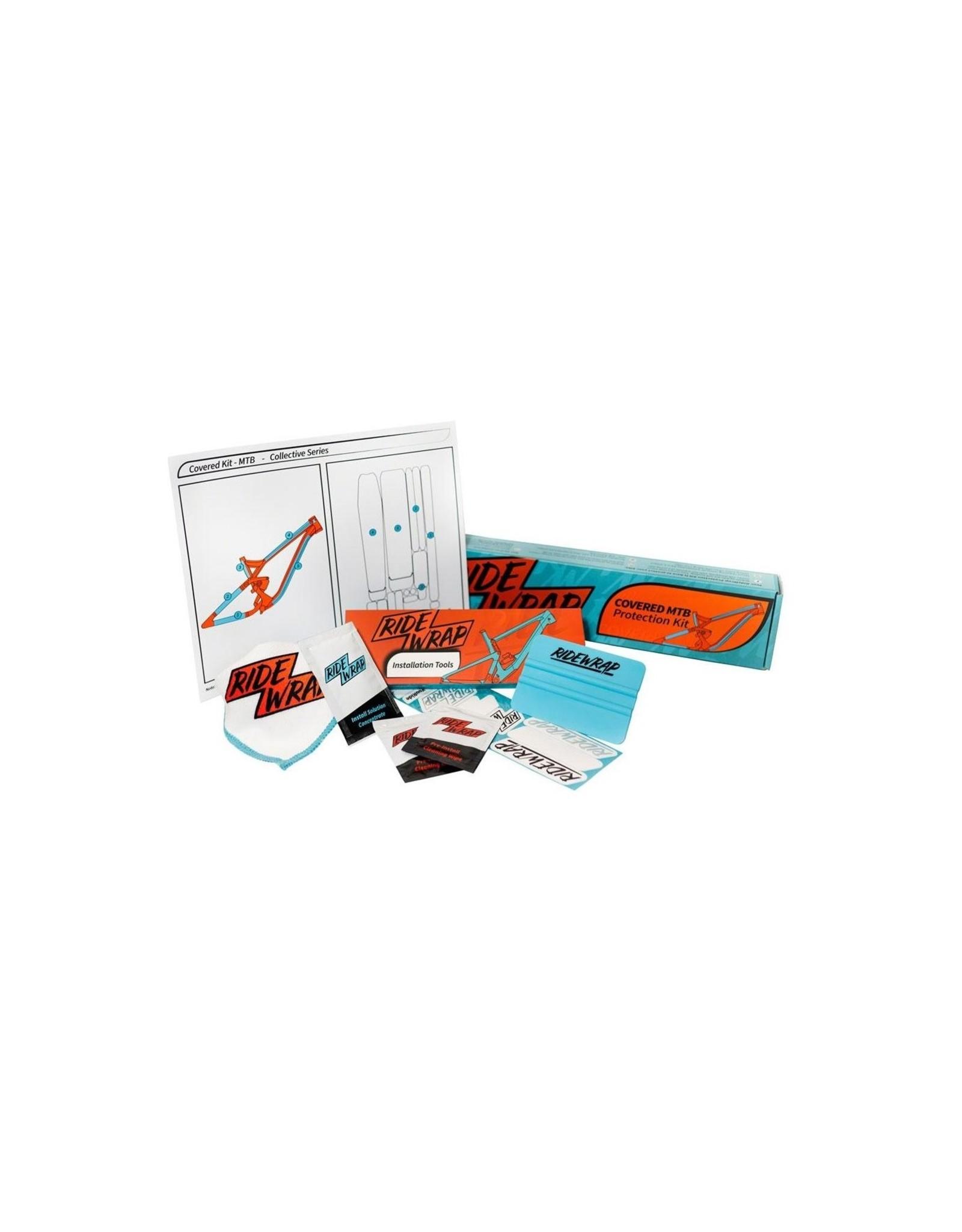 RideWrap RideWrap Covered Dual Suspension MTB Frame Protection Kit - Matte