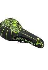 Chromag Chromag Overture Saddle - Chromoly, Black/Tight Green
