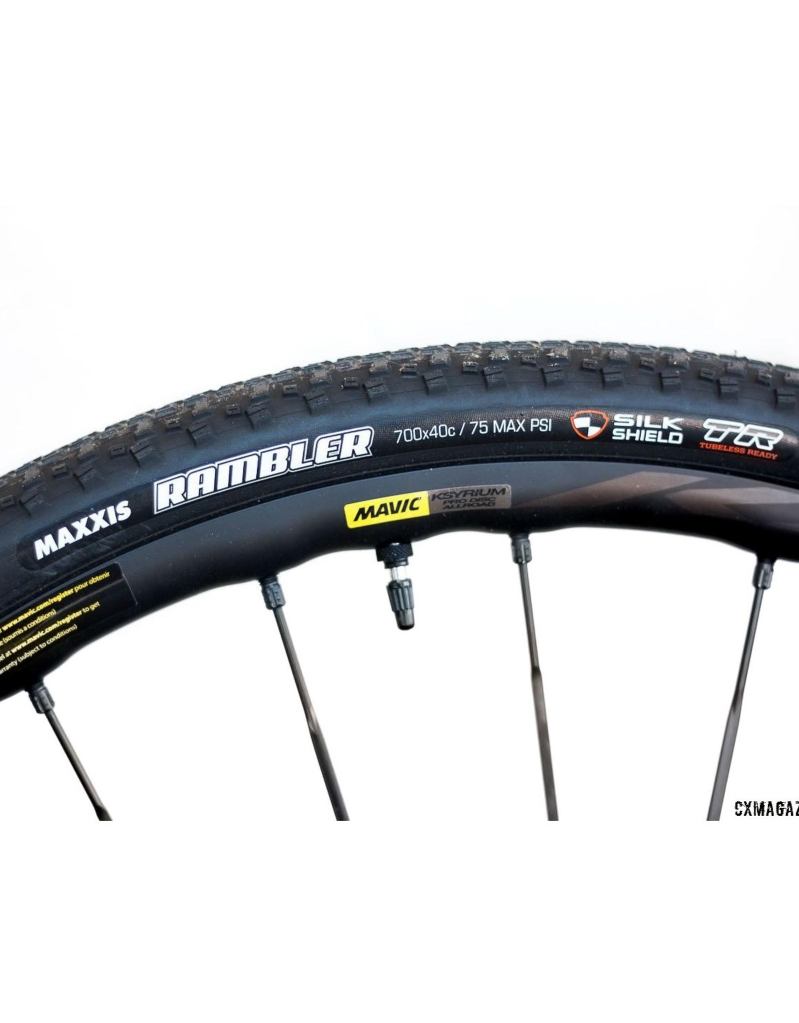 Maxxis Maxxis Rambler Tire - 700 x 45, Tubeless, Folding, Black, Dual, SilkShield