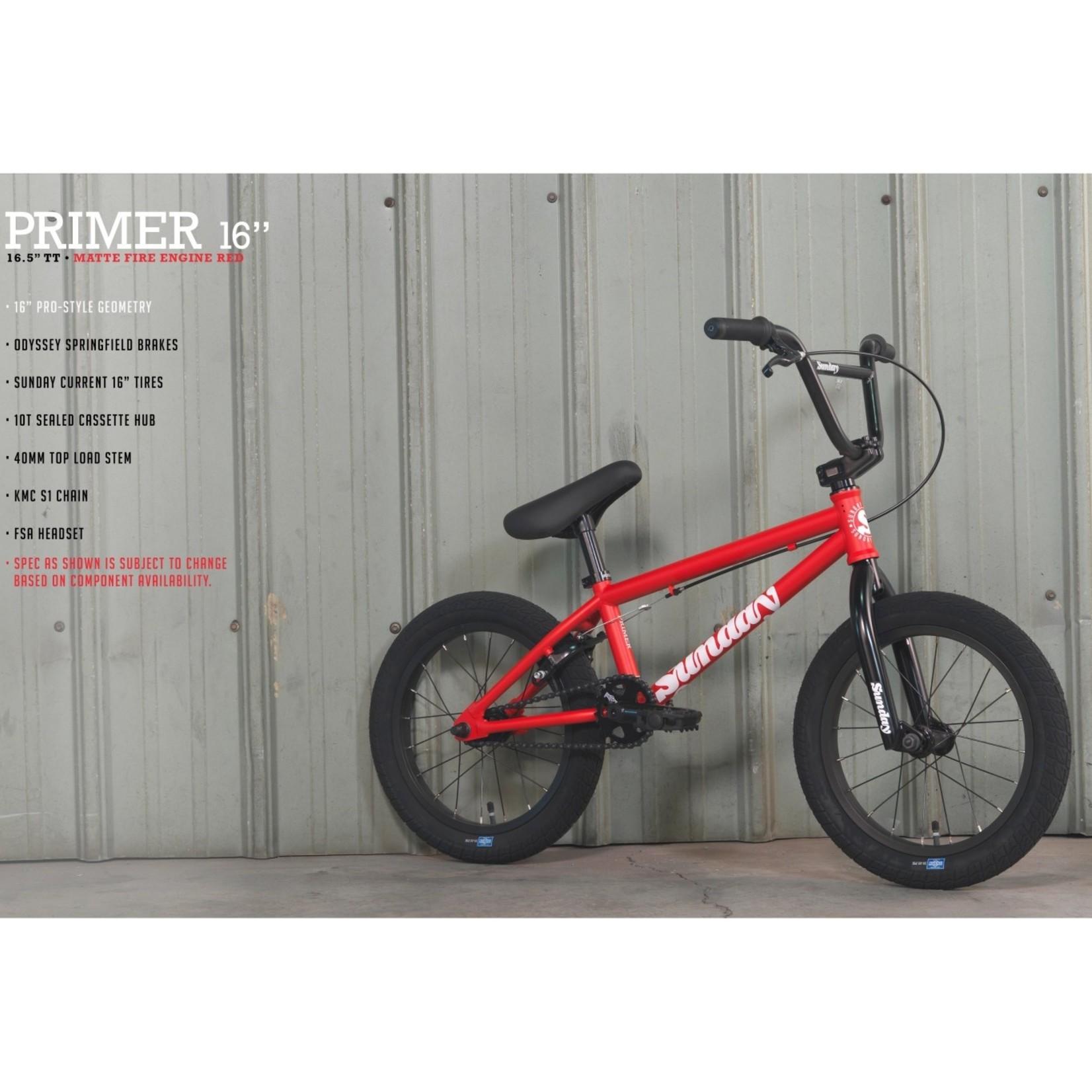 "SUNDAY PRIMER 16"" MATTE FIRE ENGINE RED 2022"