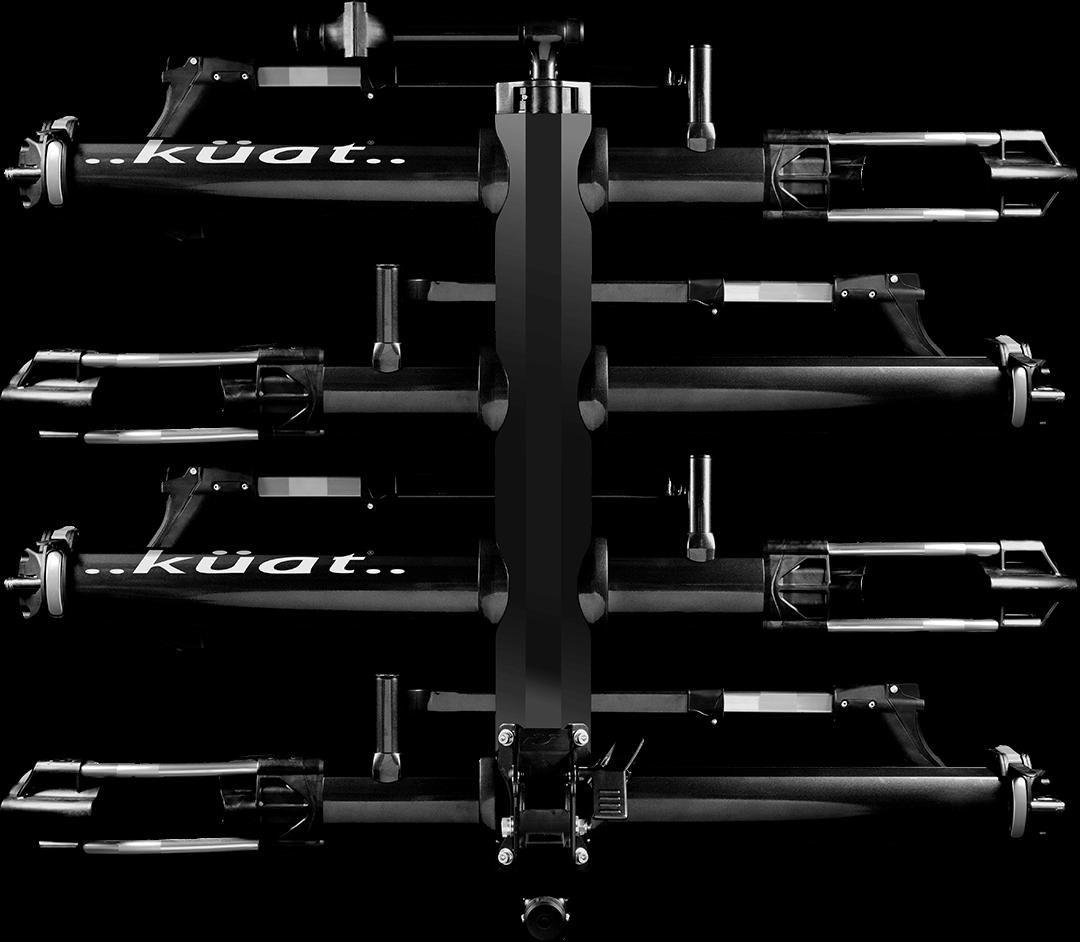 Kuat NV 2.0 +2-Bike Add-On, Metallic Black/Ano Grey-1