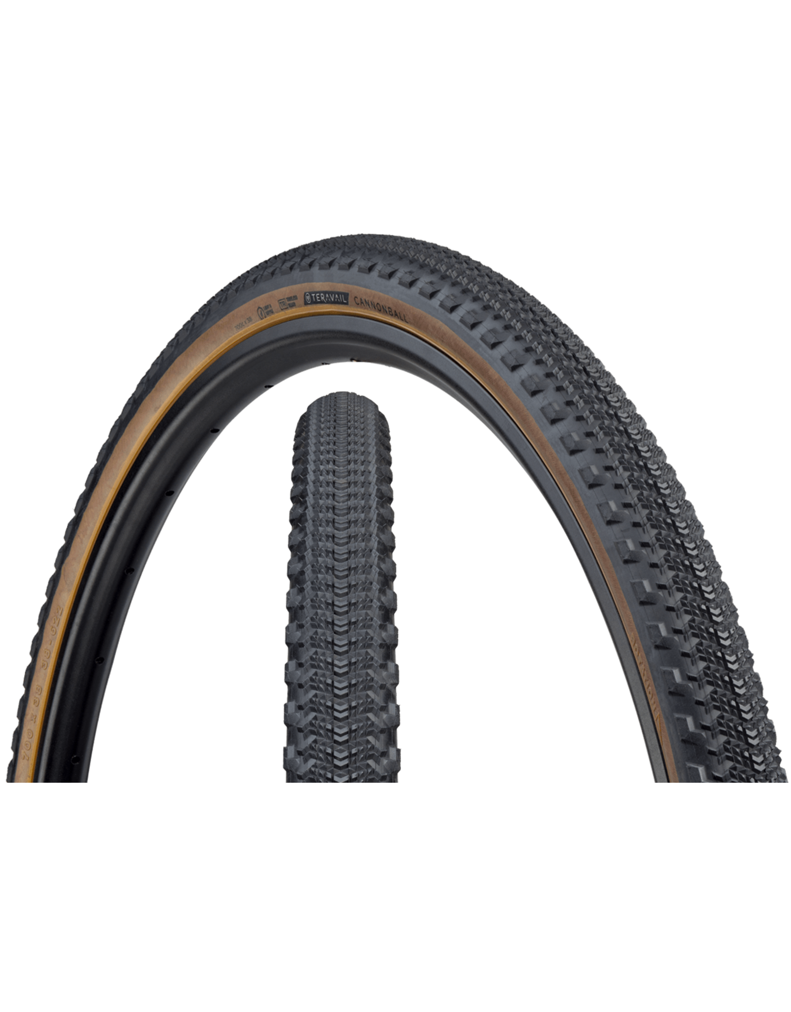 Teravail Teravail Cannonball Tire - 700 x 38, Tubeless, Folding, Black, Light and Supple